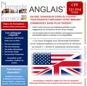 fiche formations en anglais, éligibles CPF grâce à la passation du TOEIC