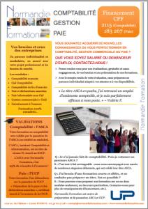 Fiche formations comptabilité, gestion et paie