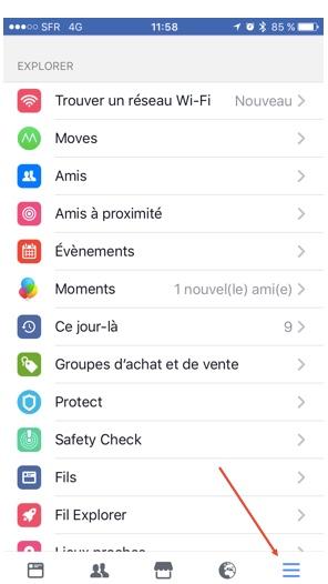 Facebook - Etape 1