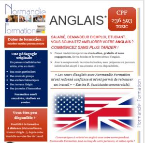 Fiche descriptive formation anglais
