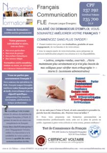 Fiche descriptive formation en français