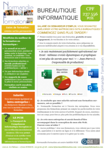 Fiche bureautique PCIE Office Word Excel Powerpoint Outlook