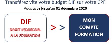 Transférez votre budget DIF sur votre CPF